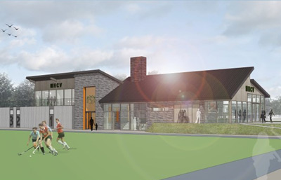 Building of hockey clubhouse Venray